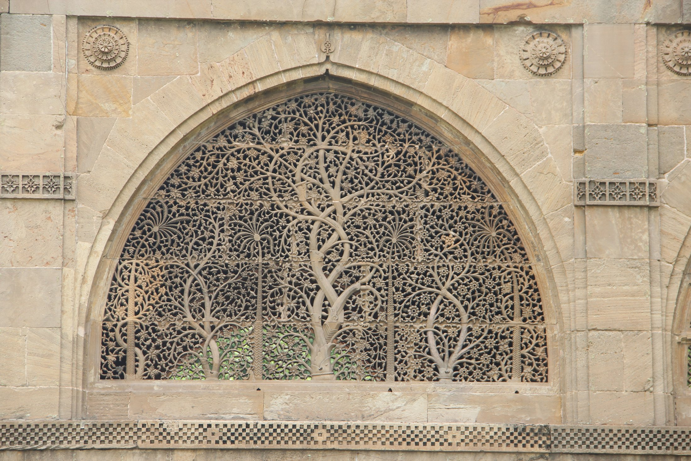 Carved Windows of the Sidi Sayed Mosque, Ahmedabad