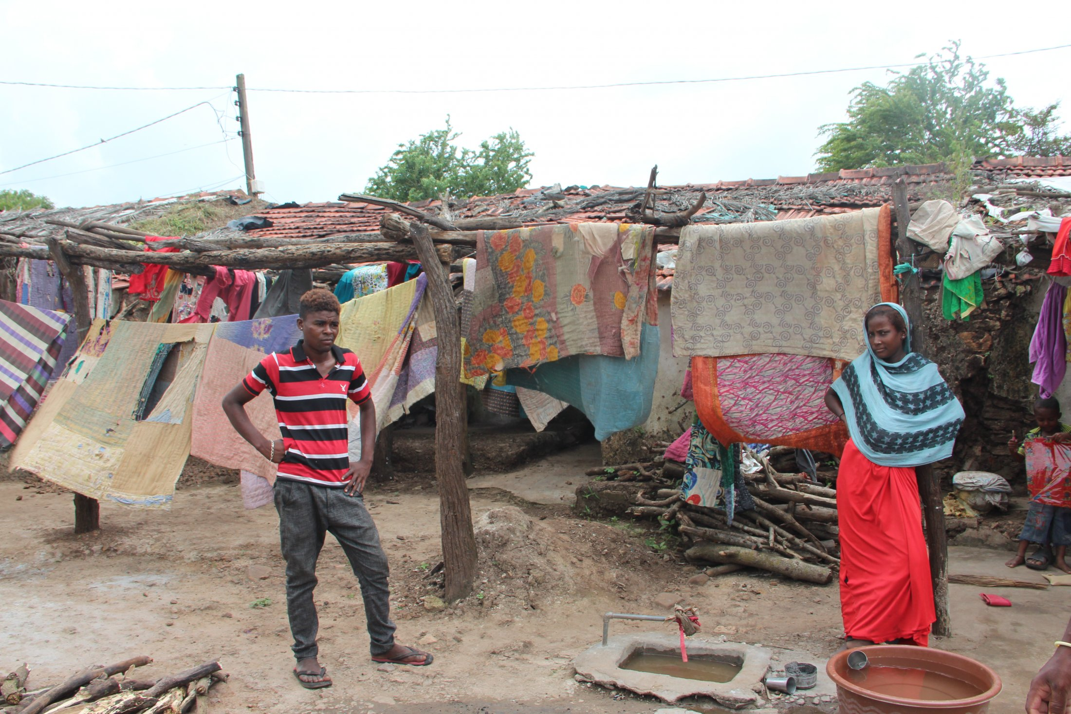 A Row of Small Sidi Houses, Gujarat