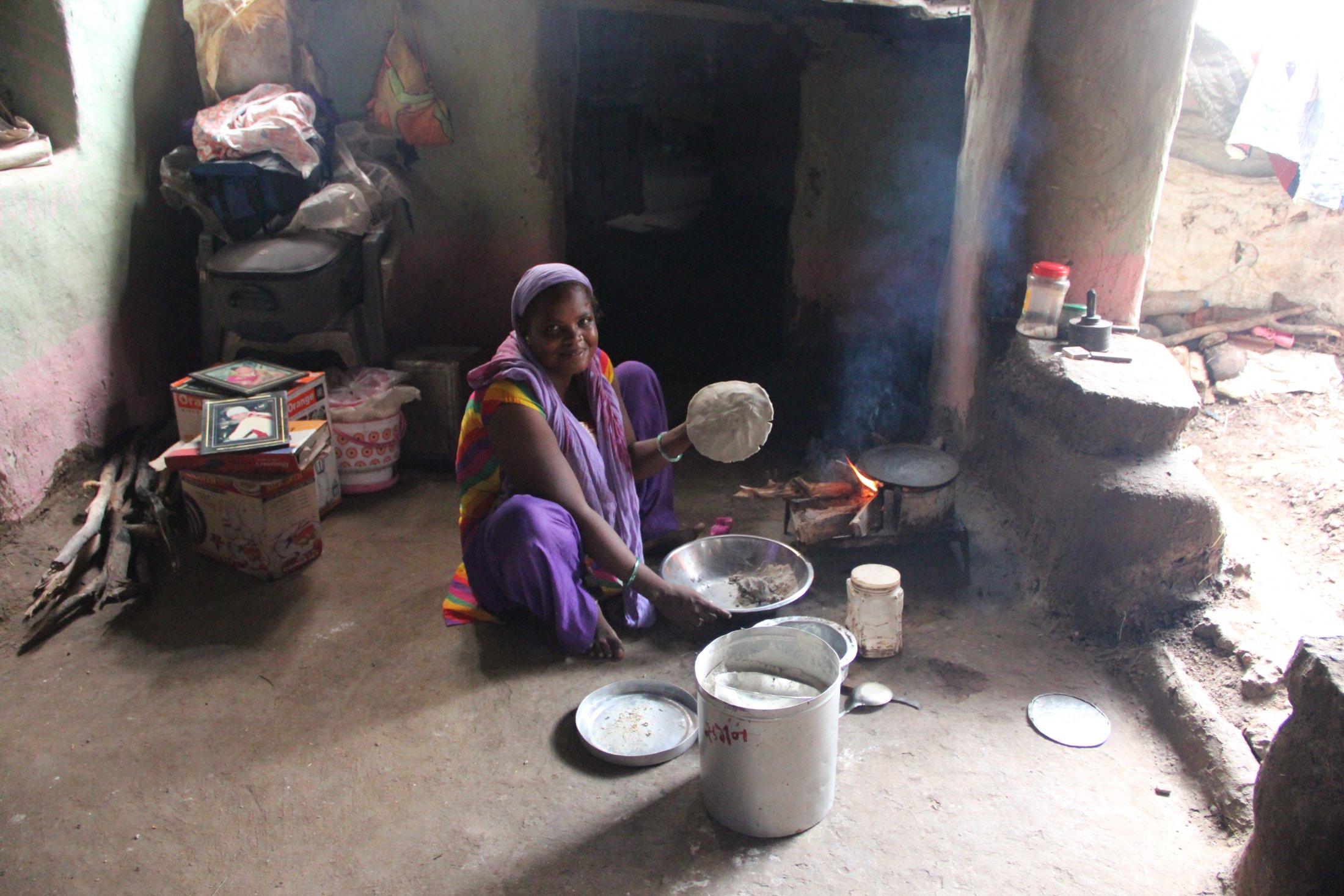 A Sidi Women in her Kitchen, Gujarat